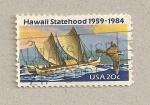 Sellos de America - Estados Unidos -  Estatuto de estado a Hawai