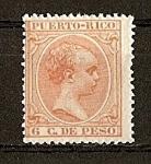 Sellos del Mundo : America : Puerto_Rico : Alfonso XIII.