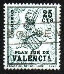Sellos del Mundo : Europa : España : Plan Sur de Valencia-Escudo del Rey Don Jaime