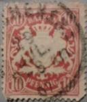 Sellos del Mundo : Europa : Alemania : bayern escudo de armas bavaria pfennig 1880