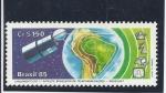 Sellos del Mundo : America : Brasil : satelite