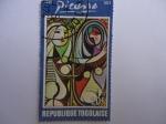 Sellos del Mundo : Africa : Togo : Togo - Mujer joven frente al espejo. De Picasso.