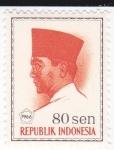 Sellos de Asia - Indonesia -  Presidente Sukarno 1901-1970 Lider Nacional