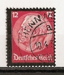 Sellos de Europa - Alemania -  Muerte de Hindenburg.