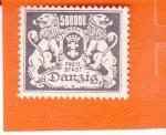 Sellos de Europa - Polonia -  Ciudad Libre de DANZIG - escudo y leones