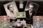 Sellos del Mundo : Europa : Mónaco : Enlace Rainiero y Grace Kelly