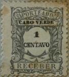 Sellos del Mundo : Africa : Cabo_Verde : porteado a receber 1904