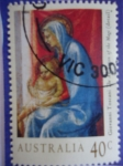Sellos del Mundo : Oceania : Australia : Giovanni Toscani (1372-1430) Oleo:The Adoration of the Magi - Navidad 1994