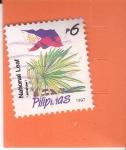 Sellos de Asia - Filipinas -  Bandera Nacional- planta filipina