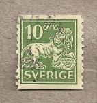 Sellos de Europa - Suecia -  Escudo leon