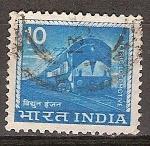 Sellos de Asia - India -  Locomotora eléctrica.