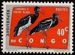 Sellos del Mundo : Africa : República_del_Congo : Cigüeñas de vientre blanco