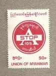 Sellos del Mundo : Asia : Myanmar : Stop SIDA