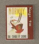 Sellos de Europa - Noruega -  Arca para skis