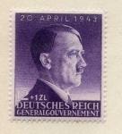 Sellos del Mundo : Europa : Alemania : DEUTSCHES REICH  general gouvernement 20 april 1943