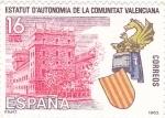 Sellos de Europa - España -  Estatut  d' autonomía de la comunitat Valenciana     (Ñ)