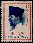 Sellos de Asia - Indonesia -  Presidente Surkano. CONEFO