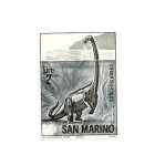 Sellos del Mundo : Europa : San_Marino : Fauna Prehistorica - Brachiosaurus