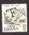 Sellos de Europa - España -  Tiziano 1477-1576