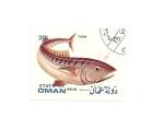 Sellos del Mundo : Asia : Omán : fauna PECES  Atún