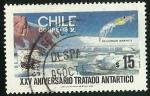 Sellos de America - Chile -  XXV ANIVERSARIO TRATADO ANTARTICO