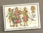 Sellos de Europa - Reino Unido -  Orquestina navideña