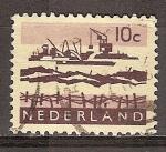 Sellos del Mundo : Europa : Holanda : Excavación de Delta.