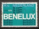 Sellos de Europa - Holanda -  30 Aniv de Benelux (unión aduanera).