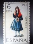 Sellos de Europa - España -  Ed:1899- Trajes Típicos Españoles- JAEN (Nº28)
