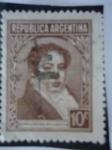 Sellos de America - Argentina -  Bernardino Rivadavia  (1780-1845)