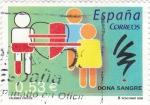 Sellos del Mundo : Europa : España :  VALORES CÍVICOS-Dona Sangre  (P)