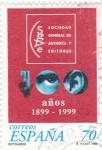 Sellos del Mundo : Europa : España :  100 Años de Sociedad General Autores y Editores     (P)