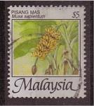 Sellos de Asia - Malasia -  serie- Frutas