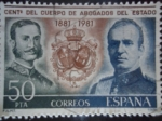Sellos de Europa - España -  Ed:2624- Centenario del Cuerpo de Abogados del Estado 1881-1981-Alfonso XII y Juan Carlos I