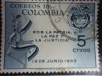 Sellos de America - Colombia -  Por la Patria, la Paz y la Justicia