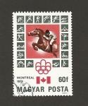 Sellos de Europa - Hungría -  Olimpiada Montreal: Equitación