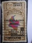 Sellos de America - Colombia -  II Exposición Filatélica Nacional-Bogotá Dic.1953