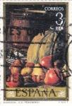 Sellos de Europa - España -  PINTURA- Bodegones - (Luis Menéndez) (R)