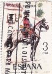 Sellos de Europa - España -  Regimiento de la Reina, Línea 1763-UNIFORMES MILITARES   (S)