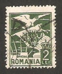 Sellos de Europa - Rumania -  4 - Águila y escudo de armas