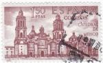 Sellos de Europa - España -  CATEDRAL DE MÉJICO-Forjadores de América Méjico  (T)