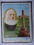 Sellos del Mundo : America : Colombia : R. Madre Laura Montoya  -  Misionera1874-1974