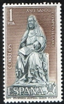 Sellos de Europa - España -  2009-  Año Santo Compostelano. Santa Brígida de Vadstena.