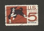 Sellos de America - Estados Unidos -  Tratamiento humanitario a los animales