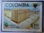 Sellos del Mundo : America : Colombia : Cudecom Desplazamiento del Edificio Cudecom-Bogotá - 90° Aniversarios de la Asociación de Ingenier