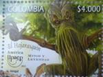 Sellos del Mundo : America : Colombia : América-Upaep- Mitos y Leyendas- ¨EL Hojarasquín¨(2/2)