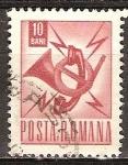 Sellos del Mundo : Europa : Rumania : Corneta de correos y el emblema de teléfono (p).
