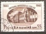 Sellos de Europa - Rumania -  CENTENARIO  DE  LA  UNIVERSIDAD  DE  CUZA