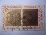 Sellos de Europa - Alemania -  20º Aniversario de la República Federal Alemana.