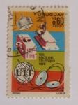 Sellos del Mundo : America : Uruguay : 100 años del telefono 1976